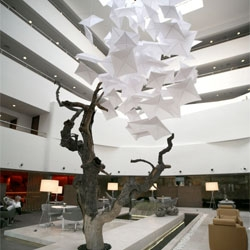 Tanju Özelgin designed this impressive lobby for the Radisson Airport Hotel in Istanbul, Turkey.