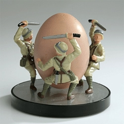 Egg Soldier Cup - BATTLE ON THE BREAKFAST TABLE - Coming in January from Reiko Kaneko