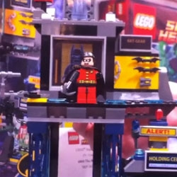 Watch as LEGO Bruce Wayne transforms into Batman in the LEGO batcave.