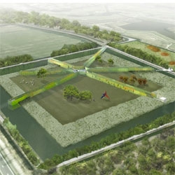 LOLA, Deltavormgroep and Piet Oudolf have won the commission to design the park extension of Groot Vijversburg. The expansion will create a star-shaped maze of hedges.