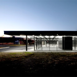 A former gas station turned Youth Activity Center on Nun's Island by Les architectes FABG.