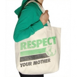 "Local Celebrity takes their classic ""Respect Your Mother"" to a great canvas tote!"