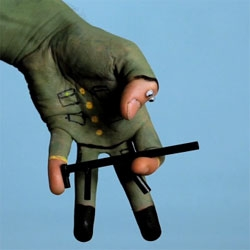 """Virgilio Villoresi captures the story of birth, life and death of a solider through handpainting in """"Fine""""."""