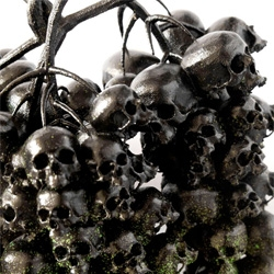 Parisian street artist Ludo's eerie Black Grapes Of Wrath sculpture.