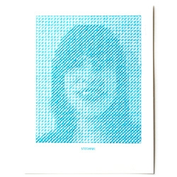 Embroidery artist Evelin Kasikov's latest project, The Portrait Project, 10 stitched portraits.