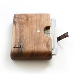 These pretty wooden wallets from Slim Timber are made from a single piece of wood.