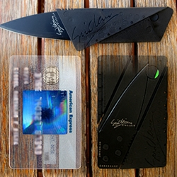 Cardsharp is a James Bond style credit card sized pocket knife!