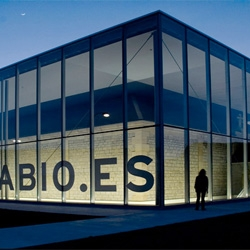 The Sancho el Sabio Foundation in Betoño, Spain preserves a beautiful building with a building. By Roberto Ercilla.
