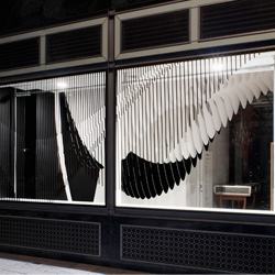 Aqua installation at Dover Street Market by Zaha Hadid.