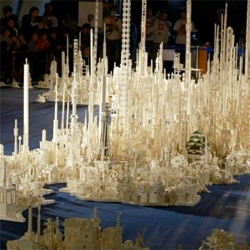 An impressive 1.8 million LEGO map of Japan.