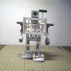 A walking paper robot! Meet the Paper Biped Robot (PR-Ⅴ) making process from H/P MPM (Mechanical Paper Model).