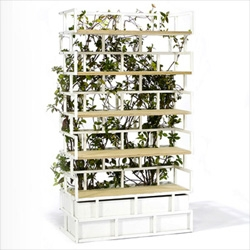 Greenbook, a combination planter/trellis and bookshelf from Nautinox Living.