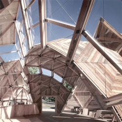 Peoples Meeting Dome, a deconstructed geodesic dome from Kristoffer Tejlgaard & Benny Jepsen.