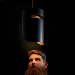 Troy Backhouse's Ned Pendant lamp inspired by Australian bush ranger Ned Kelly.