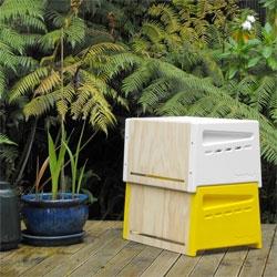 Rowan Dunford's elegant urban beehives.