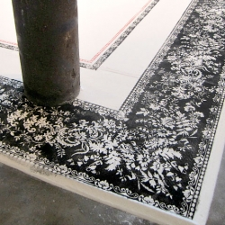 'Sugar Carpet:Tapis de Sucre' by Aude Moreau, Montreal-based artist, using two tons of refined sugar.