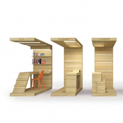 Canadian based DUBBELDAM Architecture + Design's pop-up office furniture.