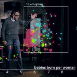 Hans Rosling visualizes and traces progress in the developing world in this segment from BBC's The Joy of Stats.