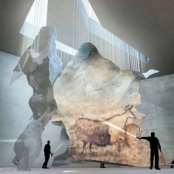 Beautiful winning proposal for the  Lascaux Cave Painting Centre by Snøhetta, Duncan Lewis and Casson Mann.