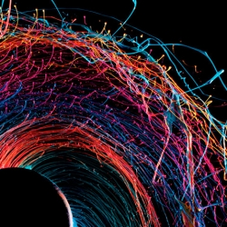 More lovely work from Fabian Oefner, this time capturing paint flung by centrifugal force in his Black Hole series.