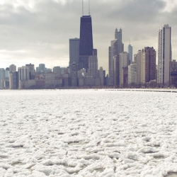 Dave Gorum captures the floating ice on Lake Michigan in these animated gifs.