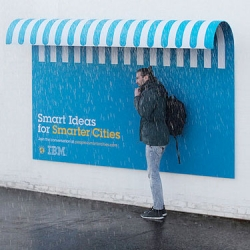"Playful ad campaign from Ogilvy & Mather France for IBM. Posters with purposes as part of their ""People For Smarter Cities"" campaign."