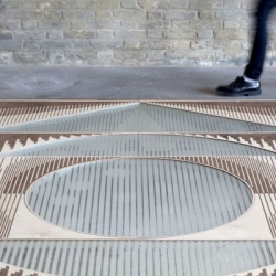 Esther Jongsma's Passage Wooden Carpets whose patterns move as you walk across them.