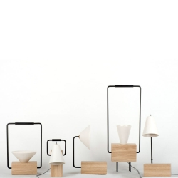 Federica Bubani's Comby Collection combining wood, ceramic and metal components.
