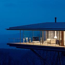 A house in the Yatsugatake Mountains, Nagano by Kidosaki Architects Studio.