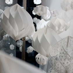 Accumulation Paper Structures, installation by Christine Kim for ARTiculations Junction, as part of the Toronto Design Offsite Festival 2014.