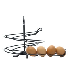 The egg skelter, a stylish way to organize (and show off) your eggs.