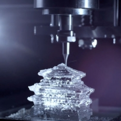 TBWA\Hakuhodo create elaborate milled ice cubes for Suntory Whisky called 3D rocks.