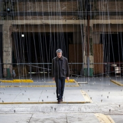 """Nowhere and Everywhere at the Same Time No. 2"" by William Forsythe at the Brighton Festival fills an old municipal market with hundreds of delicate pendulums, swinging in timed sequences."