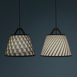 Take-Off Light, laser stitched lampshades from fifti fifti.