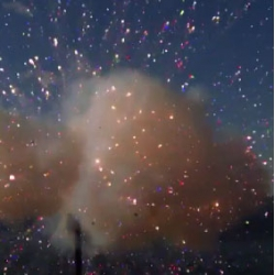 Fireworks exploding in slow motion from The Discover Slow Down.