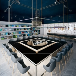 The SCIENCE Café-library by Anna Wigandt.