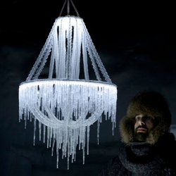 Polar light, a chandelier made of ice from Arturo Erbsman.