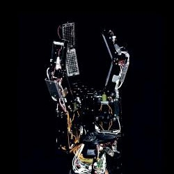 A robotic hand designed to explore the deep sea from the German Research Center for Artificial Intelligence in Bremen.