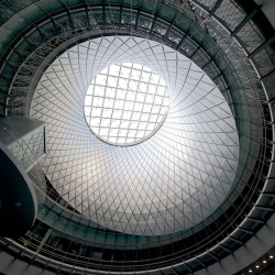 Grimshaw's Fulton Center in Lower Manhattan the new New York subway station and retail space.