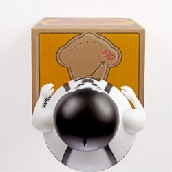 Pilot Studios' packaging design for the new Johnny Cupcakes mascot toy.