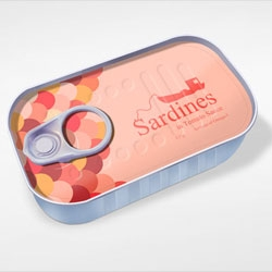Cute packaging for Sardines by Zuchna.