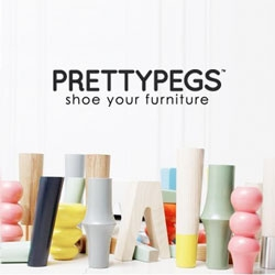 Pretty Pegs, beautiful and colorful alternative legs for your IKEA sofas and beds.