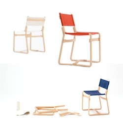 Coshell chairs by Tendo Mokko. 'Coshell' means 'to create' in the Yamagata region.
