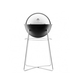 The Eva Solo Grill Globe, a beautiful and ingenious kettle grill with a lid that even has its own integrated thermometer.