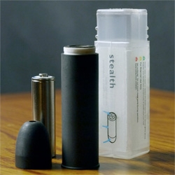 The Stealthvape, a discreet, portable vaporizer that reaches a vaporization temperature of 250°C within seconds.