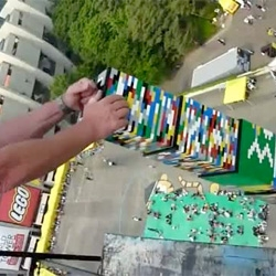 Happy 80th Birthday Lego! the tallest Lego tower ever constructed at 105 feet by 4,000 children using over 500,000 LEGO blocks. Located in front of the Olympic Stadium, Seoul, Korea,