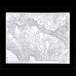 Gorgeous topographic and geometric collections from Pawling. This is a topographical print of the Grand Canyon.