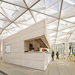 The World Design Capital Helsinki 2012 Pavilion by Aalto University Wood Studio students.