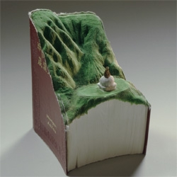 Guan Yin, a new series of book sculptures from Guy Laramee.