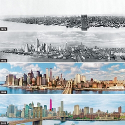 A look at the changing skyline of New York City from 1876 to 2013.